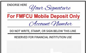 Mobile Deposit Endorsement - Please write For Remote Deposit with FMFCU
