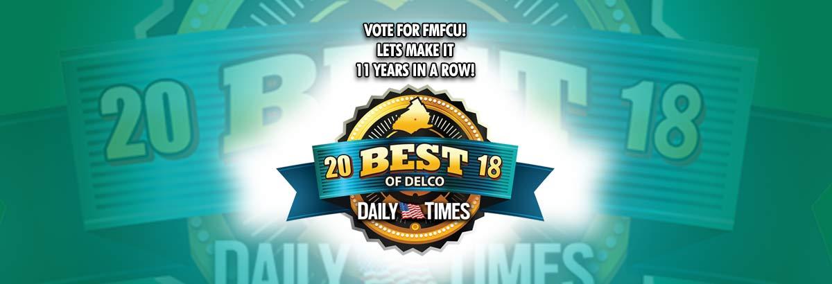 Vote for FMFCU under SERVICES!