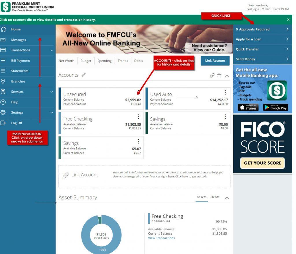 Online Banking Navigation