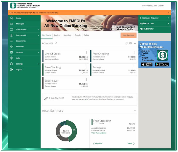 Online Banking Preview