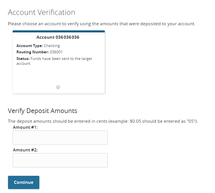 Verify External Accounts