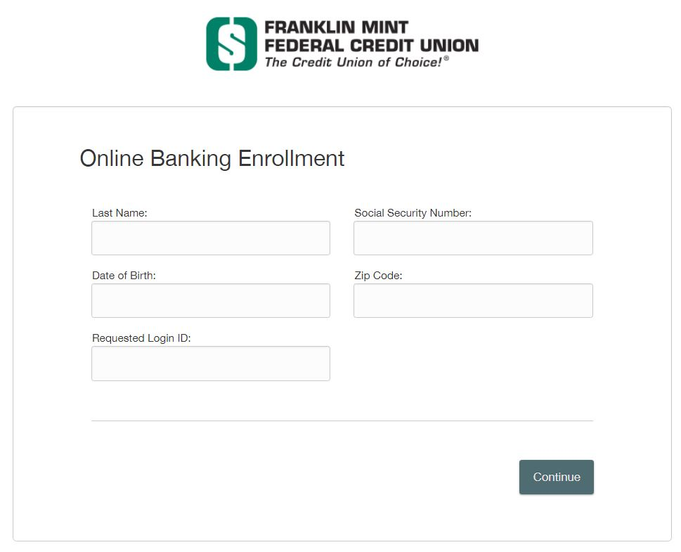 Online Banking Enrollment