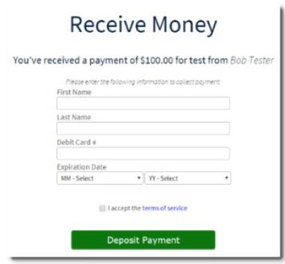 Receive Money from P2P