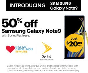 Sprint offer to CU Members Note 9 50% off