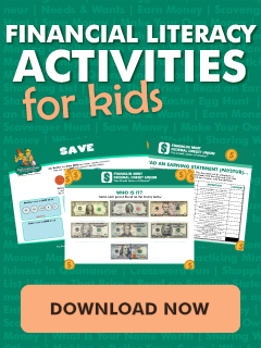 financial literacy activities for kids