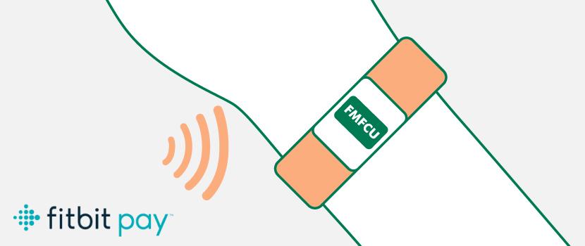 FMFCU Debit Card on a Fitbit