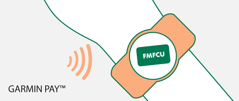 FMFCU Debit Card on a Garmin Watch