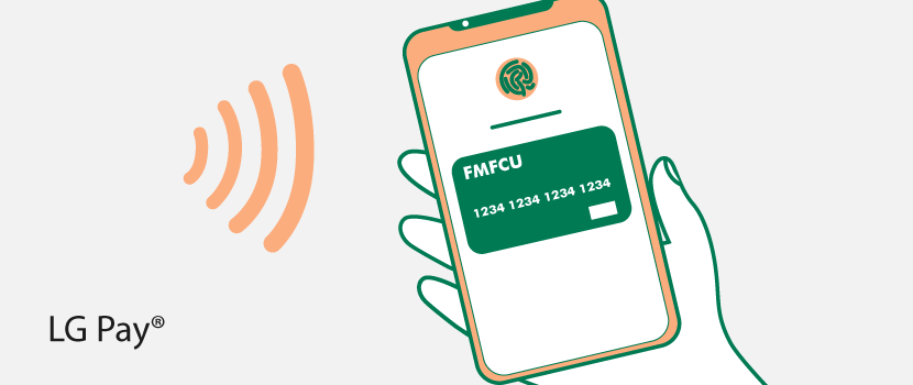 FMFCU Debit Card on an LG Phone