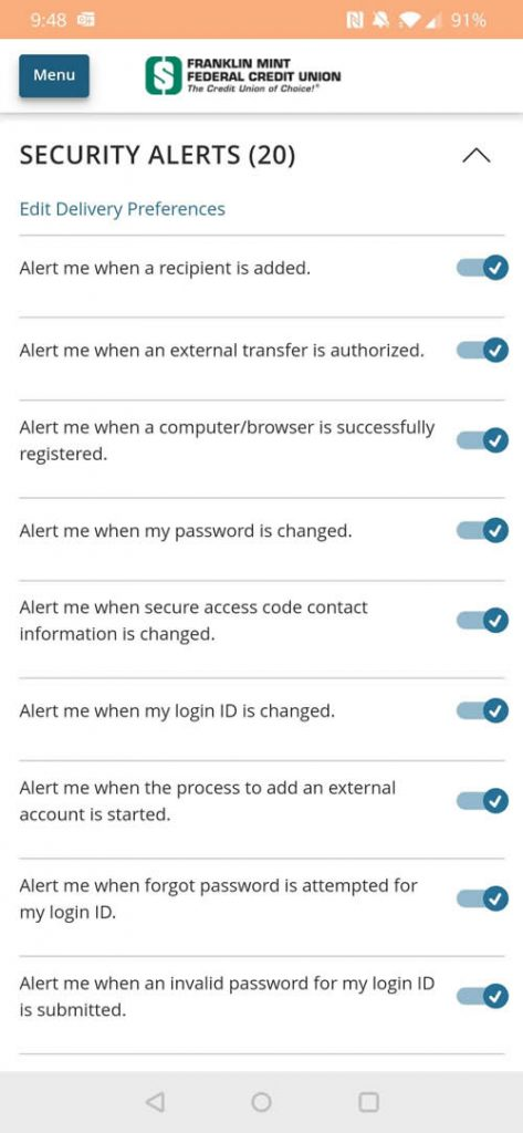 Security Alerts Enhancements
