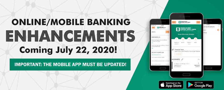 online mobile banking enhancements coming july 22 2020