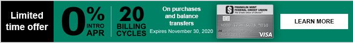 FMFCU Limited Time Credit Card Offer