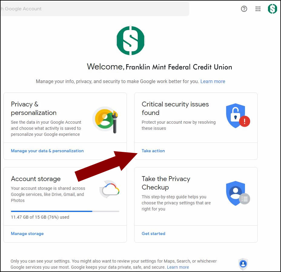 Google Security Check Step 3