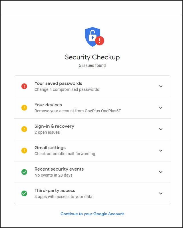 Google Security Check Step 4