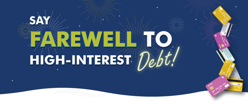 say farewell to high interest debt