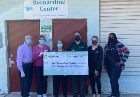 Franklin Mint Federal Credit Union Foundation presents donation to Bernadine Center