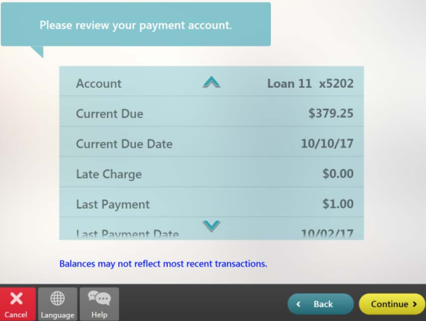 select payment details