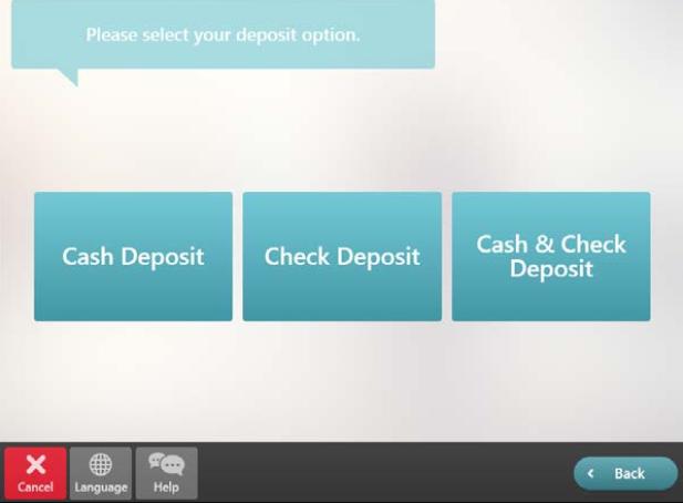 select cash deposit