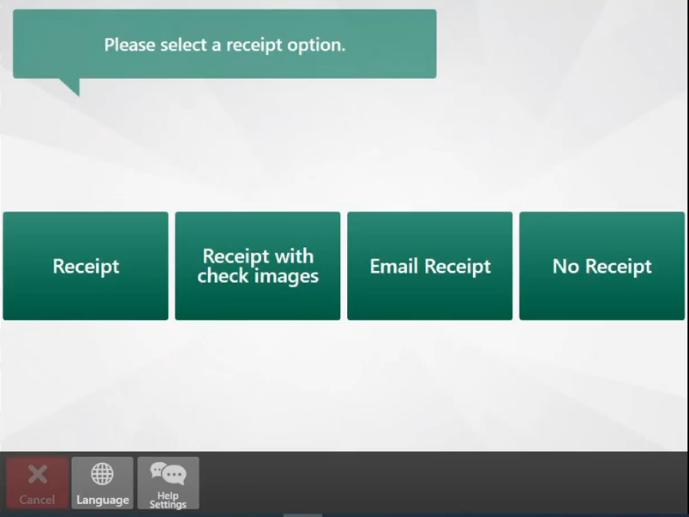 select receipt type