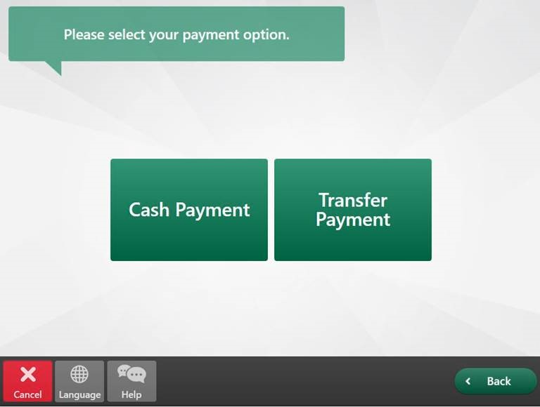 select check deposit